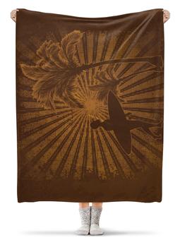 """Плед флисовый 130х170 см """"Гавайи"""" - рисунок, пальмы, сёрфинг, гавайи, гавайский"""