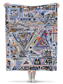 """Плед флисовый 130х170 см """"Ташизм"""" - арт, узор, абстракция, фигуры, текстура"""