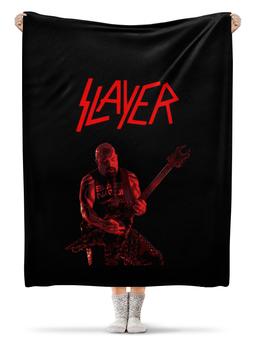 "Плед флисовый 130х170 см ""Slayer"" - рок, slayer, хэви метал, хардрок, слейер"