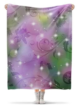 "Плед флисовый 130х170 см ""Лилия"" - цветок, лилия"