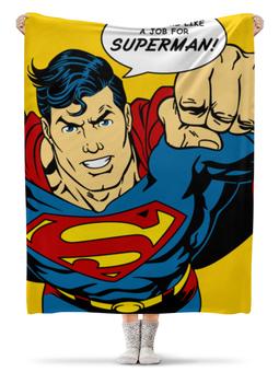 """Плед флисовый 130х170 см """"Супермен"""" - супермен, комиксы, superman, супергерои"""