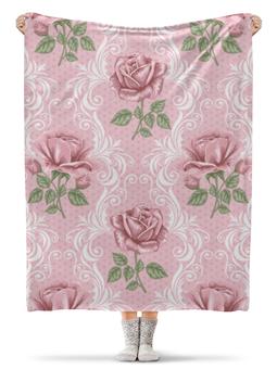 "Плед флисовый 130х170 см ""Розы (Цветы)"" - цветок, rose, роза"