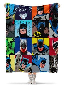 "Плед флисовый 130х170 см ""Batman  "" - комиксы, бэтмен, фэнтези"