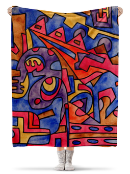 """Плед флисовый 130х170 см """"cbm`db==[]0`"""" - арт, узор, абстракция, фигуры, текстура"""