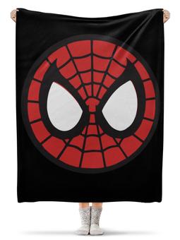 """Плед флисовый 130х170 см """"Spider-man / Человек-паук"""" - мультфильм, комиксы, фильм, spider-man, человек-паук"""