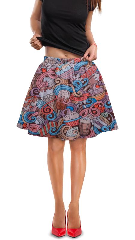 Юбка в складку Printio Мороженое юбка в складку printio мелкий горошек