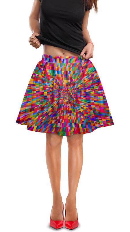 Юбка в складку Printio Абстракция треугольники юбка в складку printio радужная абстракция