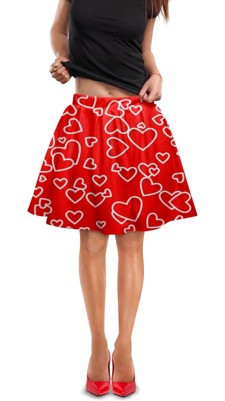 Юбка в складку Printio Сердце юбка в складку printio модная