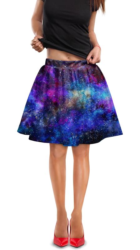 Юбка в складку Printio Космос юбка в складку printio космос