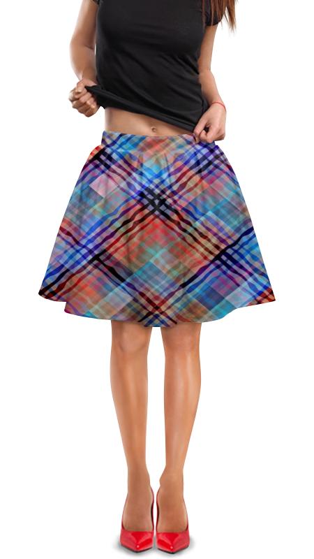 Юбка в складку Printio Цветные волны юбка карандаш printio цветные волны