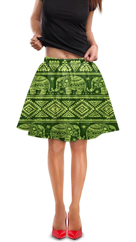 Юбка в складку Printio Слоны юбка в складку printio модная