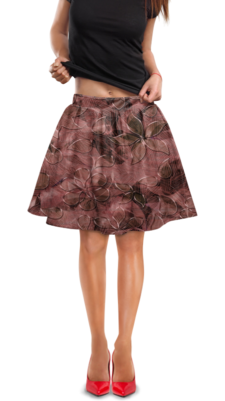 Юбка в складку Printio Цветки юбка в складку printio собачки
