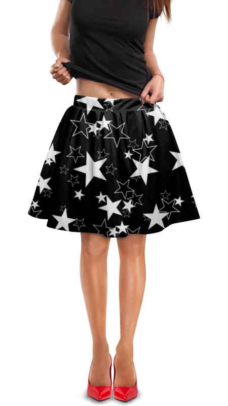 Юбка в складку Printio Звезды космос фэнтези.звездопад мясоедов в черный космос