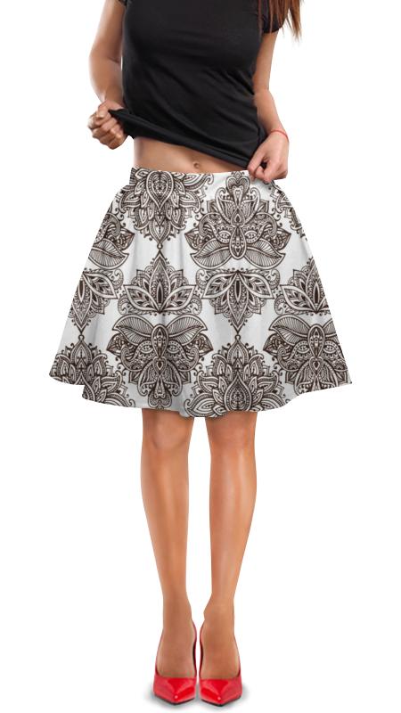 Юбка в складку Printio Черно-белые узоры юбка в складку printio черно белые узоры