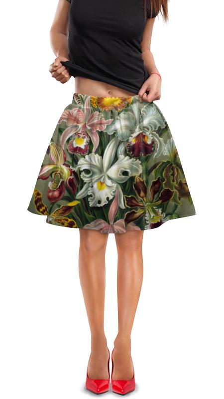Юбка в складку Printio Орхидеи (orchideae, ernst haeckel) самые дешевые орхидеи в москве