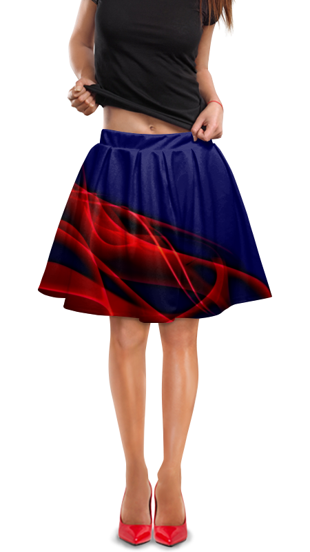 Юбка в складку Printio Краски юбка в складку printio птички