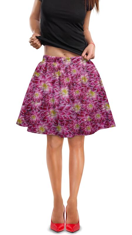 Юбка в складку Printio Flowers юбка женская camo flowers