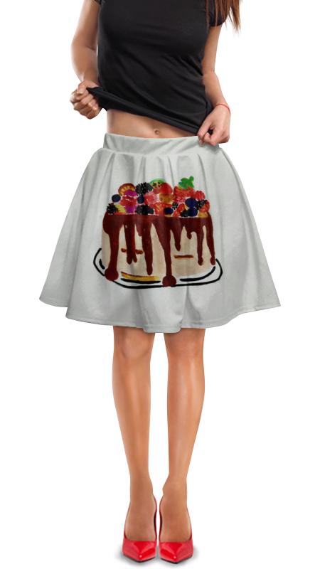 Юбка в складку Printio Тортик футболка для беременных printio шерлок холмс