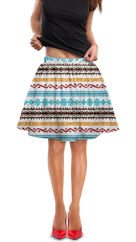 Юбка в складку Printio Этнический юбка в складку printio модная