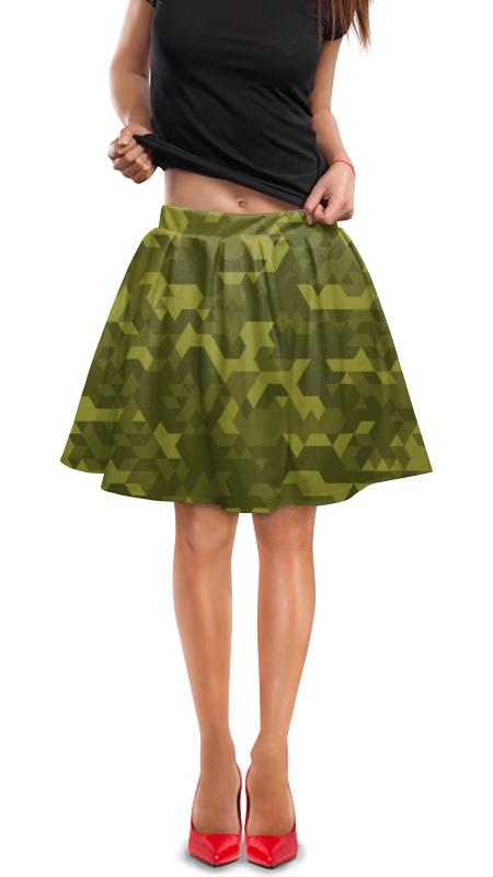 Юбка в складку Printio Камуфляж юбка в складку printio модная