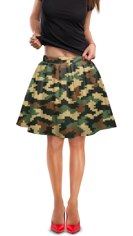 Юбка в складку Printio Маскировка юбка в складку printio модная