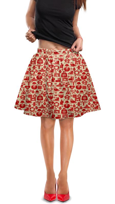 Юбка в складку Printio Праздник юбка в складку printio собачки