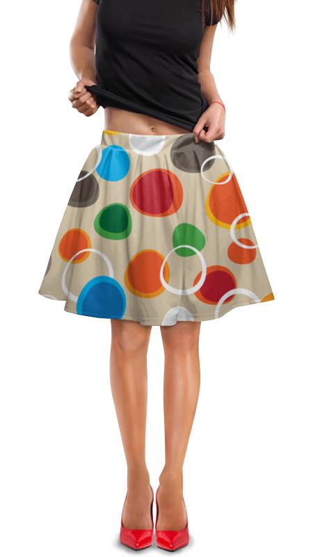 Юбка в складку Printio Цветная абстракция юбка в складку printio игрушки на елке