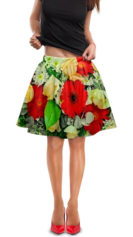 Юбка в складку Printio Букет цветов букет из цветов жасмина