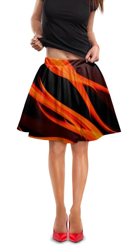 Юбка в складку Printio Огонь юбка в складку printio любимая юбка