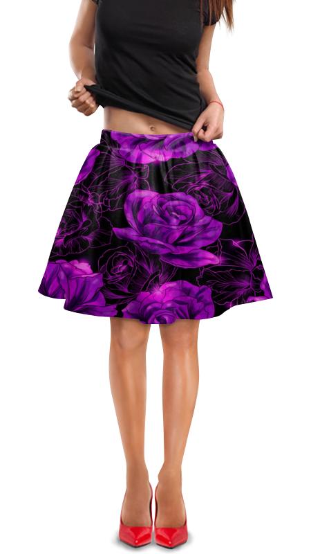 Юбка в складку Printio Розы в цвету юбка в складку printio шторм