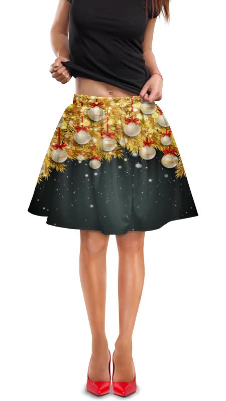 Юбка в складку Printio Новогодние украшения