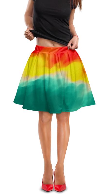 Юбка в складку Printio Watercolor юбка в складку printio молния