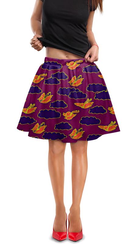 Юбка в складку Printio Птички и облака юбка в складку printio птички