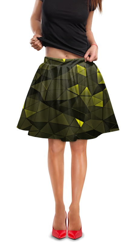 Юбка в складку Printio Зеленые стекла юбка в складку printio зеленые линии