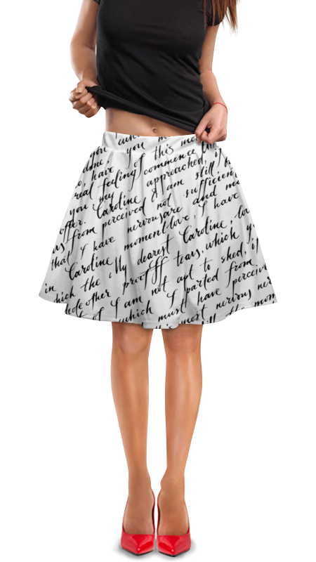 Юбка в складку Printio Письмо юбка в складку printio sihaya