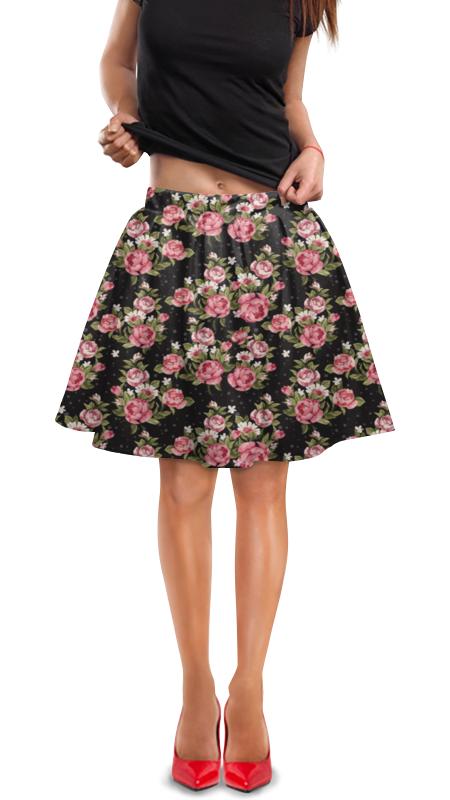 Юбка в складку Printio Цветы юбка в складку printio ромашки