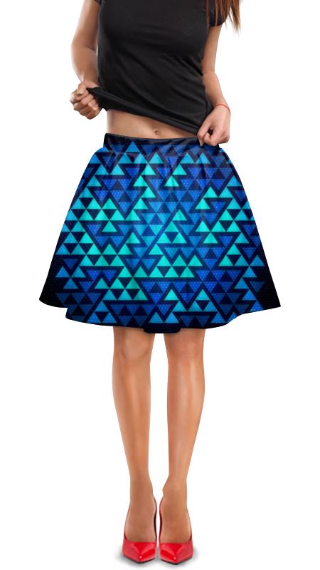 Юбка в складку Printio Треугольники юбка в складку printio собачки