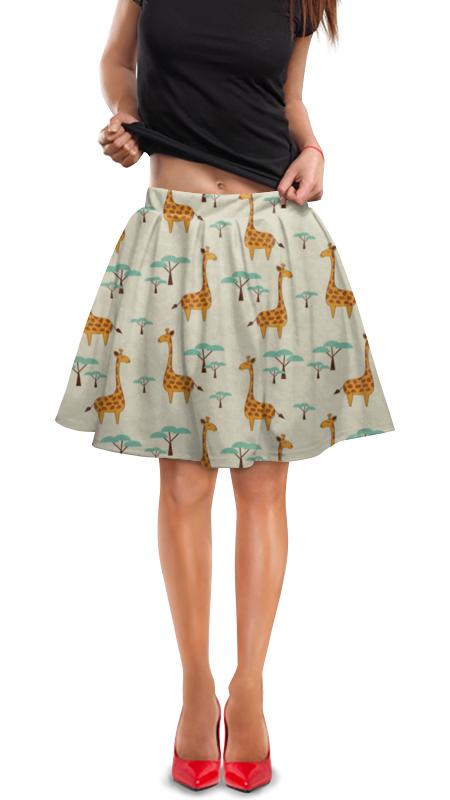 Юбка в складку Printio Жирафы lori фоторамки из гипса жирафы
