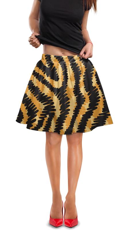 Юбка в складку Printio Тигровый тигровый орех купить в москве