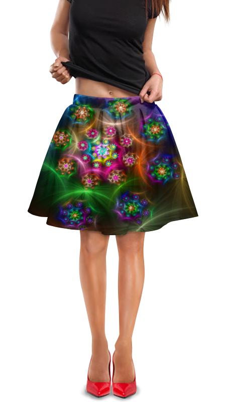 Юбка в складку Printio Красочная абстракция юбка в складку printio радужная абстракция