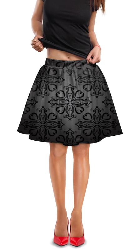 Юбка в складку Printio Расписные узоры юбка в складку printio черно белые узоры