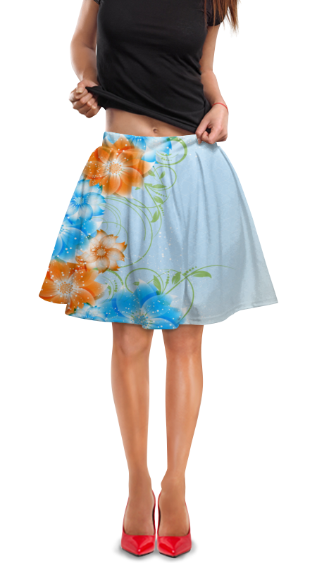 Юбка в складку Printio Цветок юбка в складку printio химия