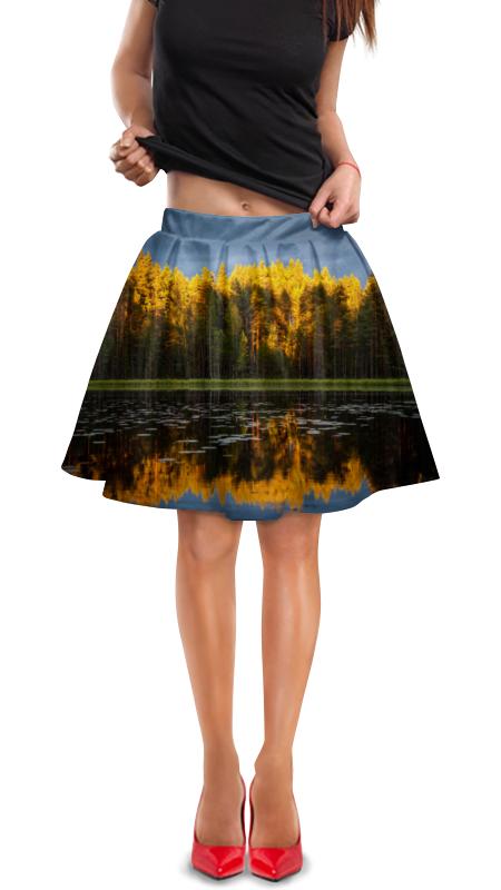Юбка в складку Printio Осенний пейзаж юбка карандаш укороченная printio осенний пейзаж
