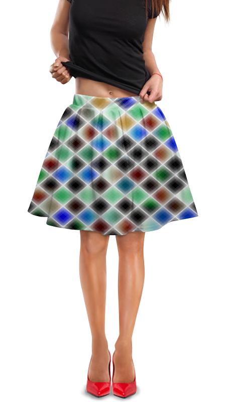 Юбка в складку Printio Квадрат юбка в складку printio многоцветный