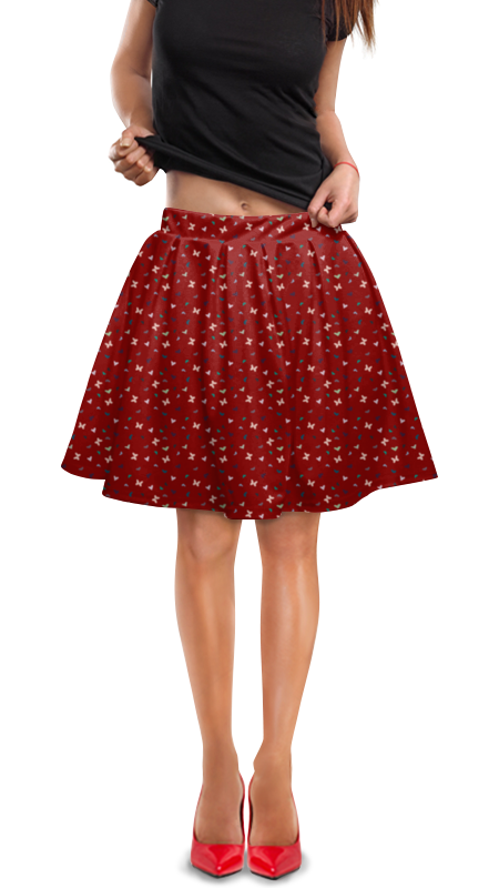 Юбка в складку Printio Бабочки юбка в складку printio любимая юбка