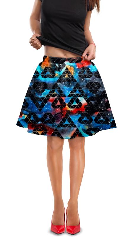 Юбка в складку Printio Орнамент юбка в складку printio триколор
