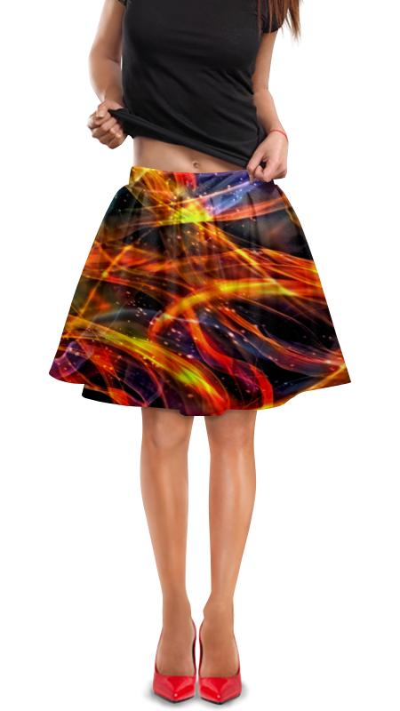Юбка в складку Printio Пламя юбка карандаш printio пламя