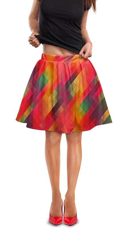 Юбка в складку Printio Многоцветный юбка в складку printio многоцветный