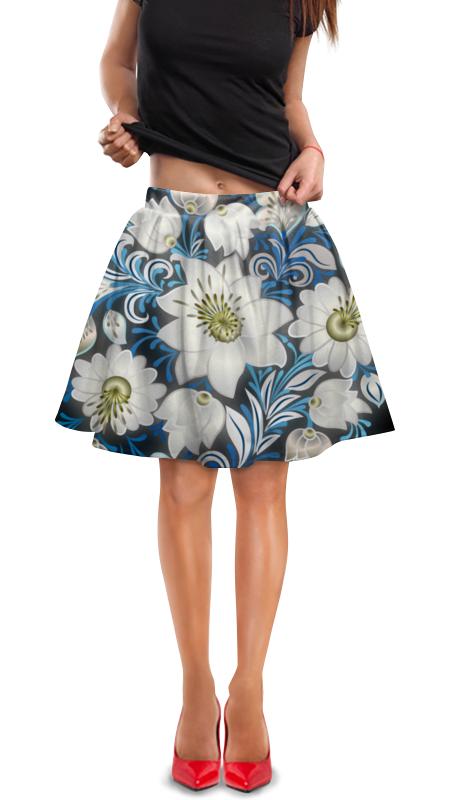 Юбка в складку Printio Цветы юбка в складку printio леопардовый