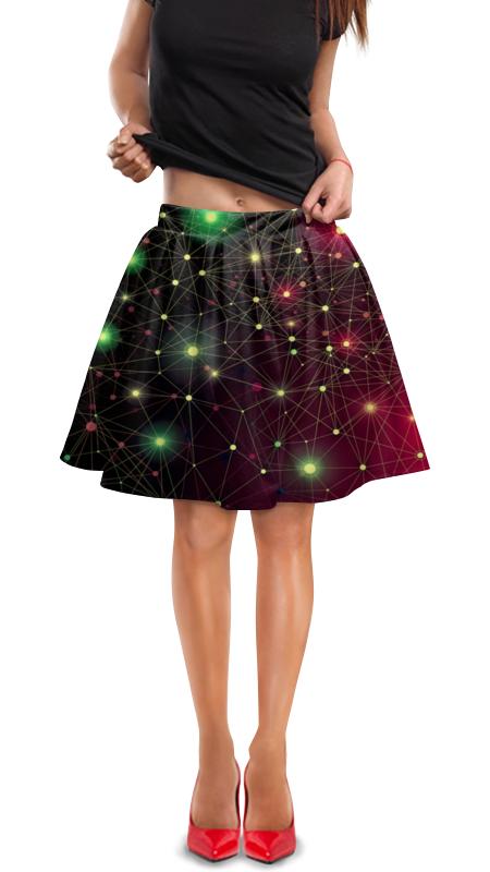 Юбка в складку Printio Созвездие юбка в складку printio молния